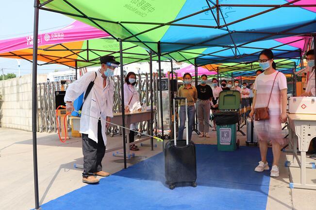 江西泛美艺术中专学校举行2020春季学期学生返校防控预演